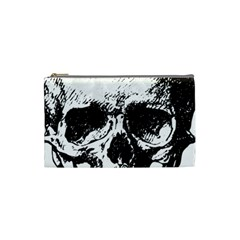 Skull Vintage Old Horror Macabre Cosmetic Bag (small)  by Sapixe