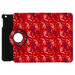 Red White And Blue Usa/uk/france Colored Party Streamers Apple Ipad Mini Flip 360 Case by PodArtist