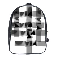 Geometry Square Black And White School Bag (large)
