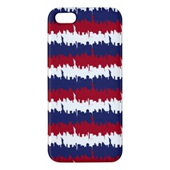 244776512ny Usa Skyline In Red White & Blue Stripes Nyc New York Manhattan Skyline Silhouette Iphone 5s/ Se Premium Hardshell Case by PodArtist