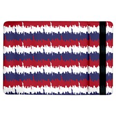 244776512ny Usa Skyline In Red White & Blue Stripes Nyc New York Manhattan Skyline Silhouette Ipad Air Flip by PodArtist