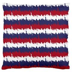 244776512ny Usa Skyline In Red White & Blue Stripes Nyc New York Manhattan Skyline Silhouette Standard Flano Cushion Case (two Sides) by PodArtist