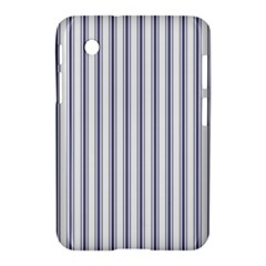 Mattress Ticking Wide Striped Pattern In Usa Flag Blue And White Samsung Galaxy Tab 2 (7 ) P3100 Hardshell Case  by PodArtist