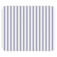 Mattress Ticking Wide Striped Pattern In Usa Flag Blue And White Double Sided Flano Blanket (small)  by PodArtist