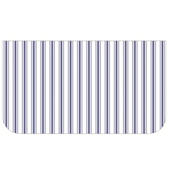 Mattress Ticking Wide Striped Pattern In Usa Flag Blue And White Lunch Bag by PodArtist