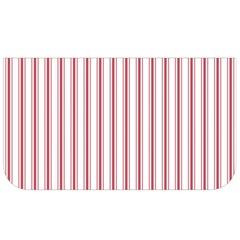 Mattress Ticking Wide Striped Pattern In Usa Flag Red And White Lunch Bag by PodArtist
