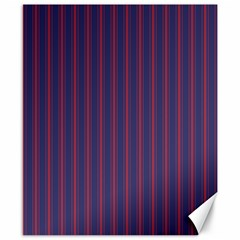 Mattress Ticking Wide Striped Pattern In Usa Flag Blue And Red Canvas 8  X 10
