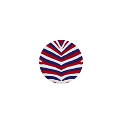 Us United States Red White And Blue American Zebra Strip 1  Mini Buttons by PodArtist