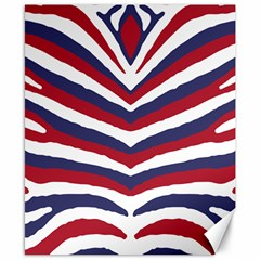 Us United States Red White And Blue American Zebra Strip Canvas 8  X 10  by PodArtist