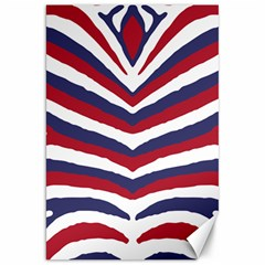 Us United States Red White And Blue American Zebra Strip Canvas 20  X 30   by PodArtist