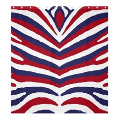 Us United States Red White And Blue American Zebra Strip Shower Curtain 66  X 72  (large)  by PodArtist