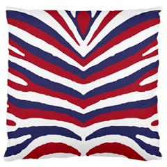 Us United States Red White And Blue American Zebra Strip Large Cushion Case (two Sides) by PodArtist