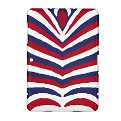 Us United States Red White And Blue American Zebra Strip Samsung Galaxy Tab 2 (10 1 ) P5100 Hardshell Case  by PodArtist