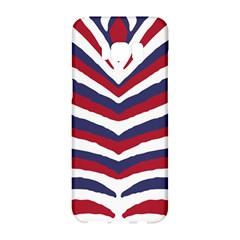 Us United States Red White And Blue American Zebra Strip Samsung Galaxy S8 Hardshell Case  by PodArtist