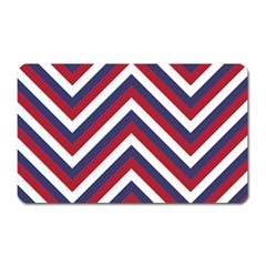United States Red White And Blue American Jumbo Chevron Stripes Magnet (rectangular) by PodArtist