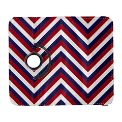 United States Red White And Blue American Jumbo Chevron Stripes Galaxy S3 (flip/folio) by PodArtist