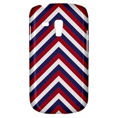 United States Red White And Blue American Jumbo Chevron Stripes Galaxy S3 Mini by PodArtist