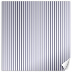 Mattress Ticking Narrow Striped Pattern In Usa Flag Blue And White Canvas 12  X 12   by PodArtist
