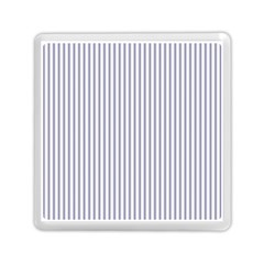Mattress Ticking Narrow Striped Pattern In Usa Flag Blue And White Memory Card Reader (square)  by PodArtist