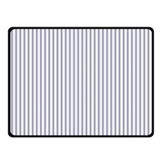 Mattress Ticking Narrow Striped Pattern In Usa Flag Blue And White Double Sided Fleece Blanket (small)  by PodArtist
