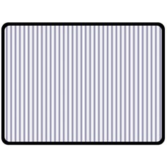 Mattress Ticking Narrow Striped Pattern In Usa Flag Blue And White Double Sided Fleece Blanket (large)  by PodArtist