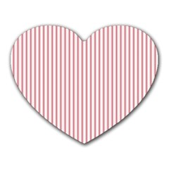 Mattress Ticking Narrow Striped Usa Flag Red And White Heart Mousepads
