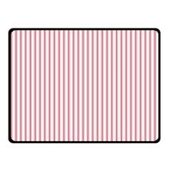 Mattress Ticking Narrow Striped Usa Flag Red And White Fleece Blanket (small) by PodArtist