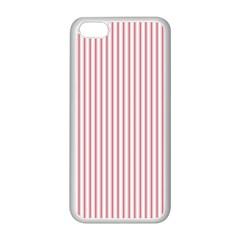 Mattress Ticking Narrow Striped Usa Flag Red And White Apple Iphone 5c Seamless Case (white) by PodArtist