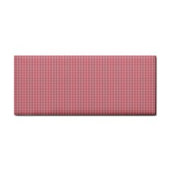 Usa Flag Red Blood Mini Gingham Check Hand Towel by PodArtist