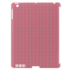 Usa Flag Red Blood Mini Gingham Check Apple Ipad 3/4 Hardshell Case (compatible With Smart Cover) by PodArtist