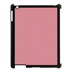 Usa Flag Red Blood Mini Gingham Check Apple Ipad 3/4 Case (black) by PodArtist