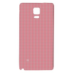 Usa Flag Red Blood Mini Gingham Check Galaxy Note 4 Back Case by PodArtist