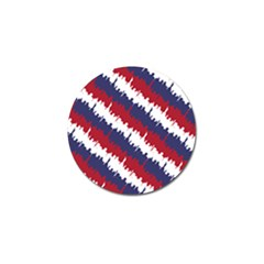 Ny Usa Candy Cane Skyline In Red White & Blue Golf Ball Marker (4 Pack)