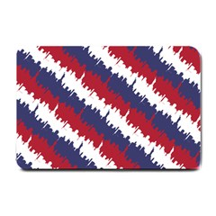 Ny Usa Candy Cane Skyline In Red White & Blue Small Doormat  by PodArtist