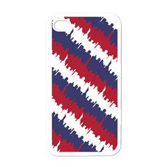 Ny Usa Candy Cane Skyline In Red White & Blue Apple Iphone 4 Case (white)
