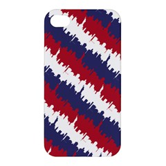 Ny Usa Candy Cane Skyline In Red White & Blue Apple Iphone 4/4s Premium Hardshell Case by PodArtist