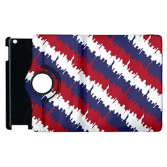 Ny Usa Candy Cane Skyline In Red White & Blue Apple Ipad 2 Flip 360 Case