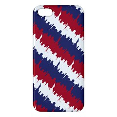 Ny Usa Candy Cane Skyline In Red White & Blue Apple Iphone 5 Premium Hardshell Case by PodArtist