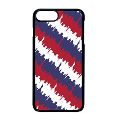 Ny Usa Candy Cane Skyline In Red White & Blue Apple Iphone 8 Plus Seamless Case (black) by PodArtist
