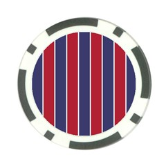 Large Red White And Blue Usa Memorial Day Holiday Vertical Cabana Stripes Poker Chip Card Guard