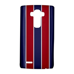 Large Red White And Blue Usa Memorial Day Holiday Vertical Cabana Stripes Lg G4 Hardshell Case by PodArtist