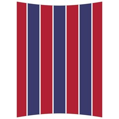Large Red White And Blue Usa Memorial Day Holiday Vertical Cabana Stripes Back Support Cushion by PodArtist
