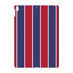 Large Red White And Blue Usa Memorial Day Holiday Vertical Cabana Stripes Apple Ipad Pro 10 5   Hardshell Case