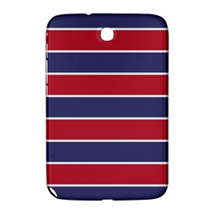 Large Red White And Blue Usa Memorial Day Holiday Horizontal Cabana Stripes Samsung Galaxy Note 8 0 N5100 Hardshell Case