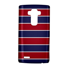 Large Red White And Blue Usa Memorial Day Holiday Horizontal Cabana Stripes Lg G4 Hardshell Case by PodArtist