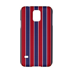 Large Red White And Blue Usa Memorial Day Holiday Pinstripe Samsung Galaxy S5 Hardshell Case  by PodArtist