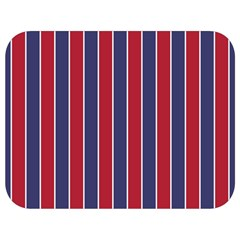 Large Red White And Blue Usa Memorial Day Holiday Pinstripe Full Print Lunch Bag by PodArtist