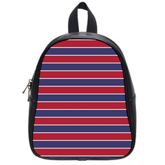 Large Red White And Blue Usa Memorial Day Holiday Pinstripe School Bag (small)