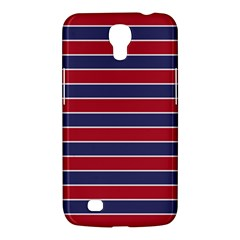 Large Red White And Blue Usa Memorial Day Holiday Pinstripe Samsung Galaxy Mega 6 3  I9200 Hardshell Case by PodArtist