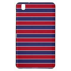Large Red White And Blue Usa Memorial Day Holiday Pinstripe Samsung Galaxy Tab Pro 8 4 Hardshell Case